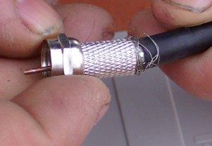 Conector F en Cable