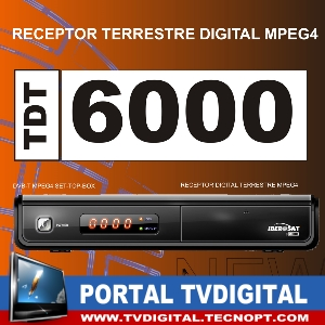 Receptor Digital Terrestre TDT Iberosat 6000 HD USB